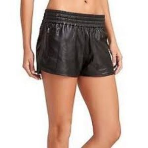 Athleta by Derek Lam Ioc Shorts Black Lamb Leather